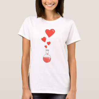 Flask of Hearts Science Geek Female T-Shirt
