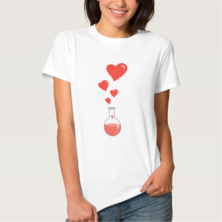 Flask of Hearts Science Geek Female T-shirts