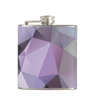 Flask: Polygon Design-Shades of Purple & Lavender Hip Flask