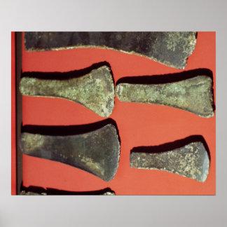 Flat Axes, prehistoric Poster