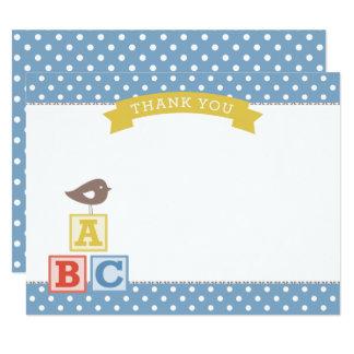 Flat Baby Shower Thank You Card | ABC Blocks