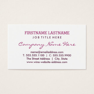 Flat Business Card   Burgundy Red Wine Stain Rings