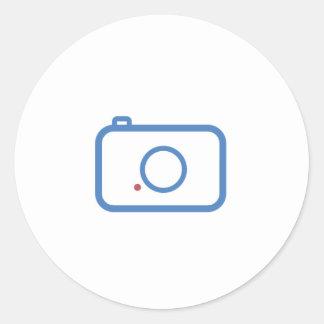 Flat Camera Design Round Sticker