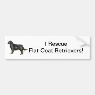 Flat Coat Retriever Bumper Sticker