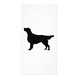 Flat Coated Retreiver Hunting dog Silhouette Photo Greeting Card