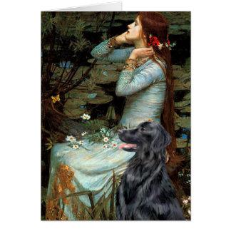 Flat Coated Retriever 1 - Ophelia Card