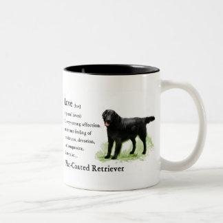 Flat-Coated Retriever Art Print Coffee Mugs