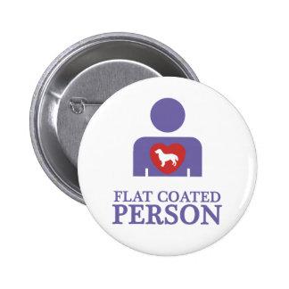 Flat-Coated Retriever Button