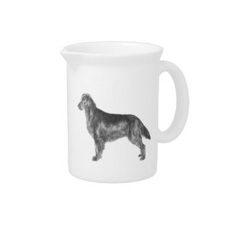 Flat Coated Retriever Beverage Pitcher
