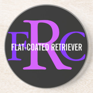 Flat-Coated Retriever Breed Monogram Beverage Coasters