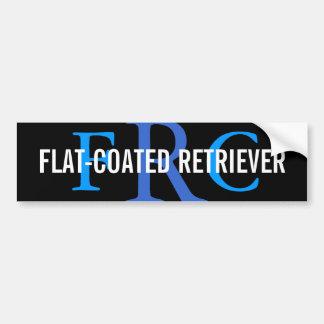 Flat-Coated Retriever Breed Monogram Car Bumper Sticker