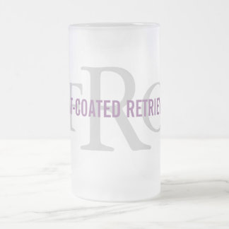 Flat-Coated Retriever Breed Monogram Frosted Glass Mug
