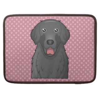 Flat-Coated Retriever Cartoon Sleeves For MacBook Pro
