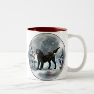Flat-Coated Retriever Christmas Gifts Coffee Mugs