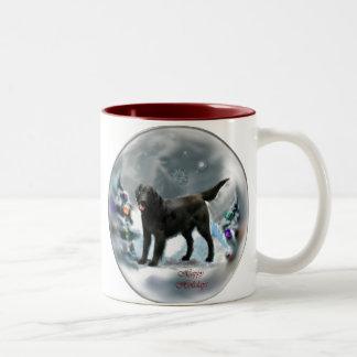 Flat-Coated Retriever Christmas Gifts Two-Tone Coffee Mug
