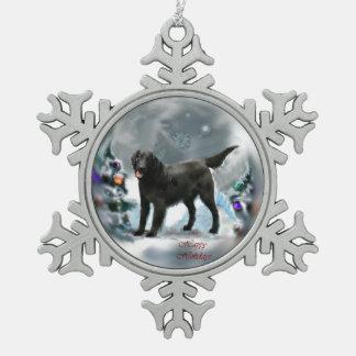 Flat-Coated Retriever Christmas Pewter Snowflake Decoration
