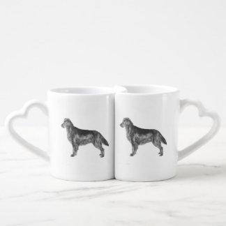 Flat Coated Retriever Coffee Mug Set