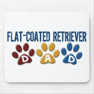 FLAT-COATED RETRIEVER Dad Paw Print 1 Mouse Pad