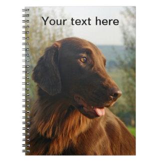 Flat Coated Retriever dog beautiful photo notebook