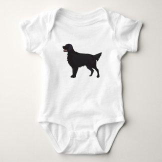 Flat-Coated Retriever Dog Breed Illustration Baby Bodysuit