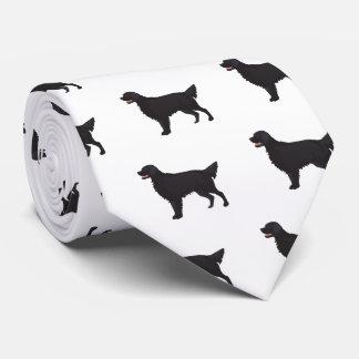 Flat-Coated Retriever Dog Breed Illustration Tie