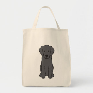Flat Coated Retriever Dog Cartoon