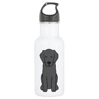 Flat Coated Retriever Dog Cartoon 532 Ml Water Bottle