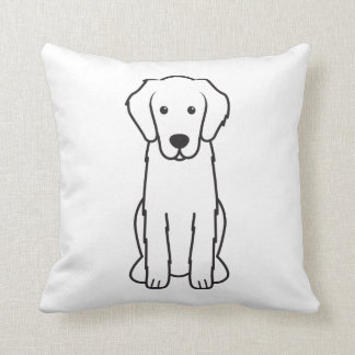 Flat-Coated Retriever Dog Cartoon Throw Cushion