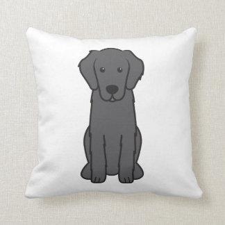 Flat Coated Retriever Dog Cartoon Pillows