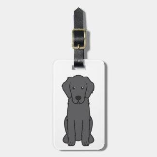 Flat Coated Retriever Dog Cartoon Luggage Tags