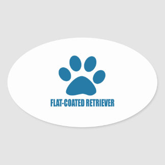 FLAT-COATED RETRIEVER DOG DESIGNS OVAL STICKER