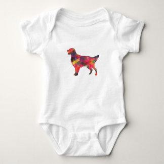 Flat Coated Retriever Dog Geometric Silhouette Baby Bodysuit