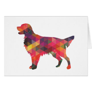 Flat Coated Retriever Dog Geometric Silhouette Card