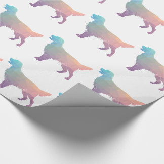 Flat-Coated Retriever Geometric Silhouette -Pastel