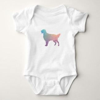 Flat-Coated Retriever Geometric Silhouette -Pastel Baby Bodysuit