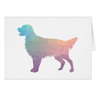 Flat-Coated Retriever Geometric Silhouette -Pastel Card