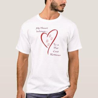 Flat-Coated Retriever Heart Belongs T-Shirt