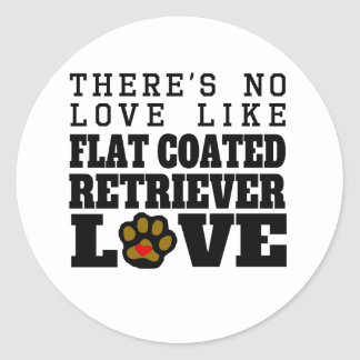 Flat-Coated Retriever Love Classic Round Sticker