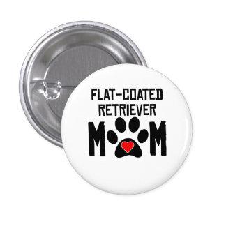 Flat-Coated Retriever Mom Pinback Buttons