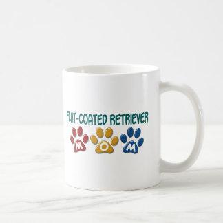 FLAT-COATED RETRIEVER Mom Paw Print 1 Mugs