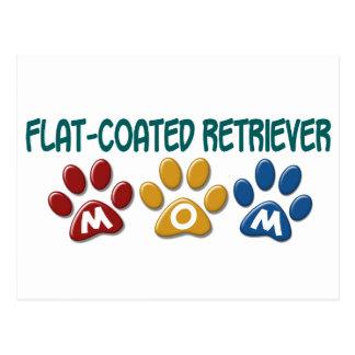 FLAT-COATED RETRIEVER Mom Paw Print 1 Postcard