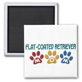 FLAT-COATED RETRIEVER Mom Paw Print 1 Square Magnet