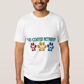 FLAT-COATED RETRIEVER Mom Paw Print 1 T Shirts