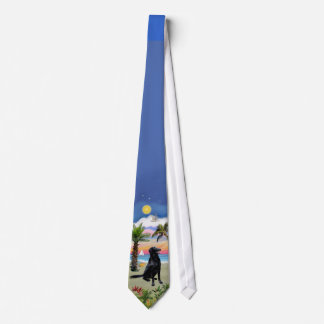 Flat Coated Retriever - Palm Beach Tie