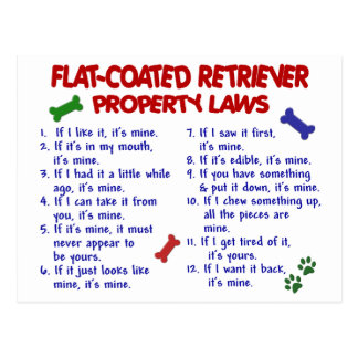 FLAT COATED RETRIEVER Property Laws 2 Post Cards