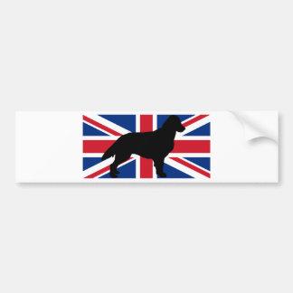 flat coated retriever silhouette flag bumper sticker