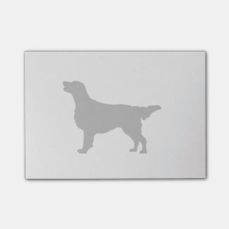 Flat-Coated Retriever Silhouette Love Dogs Post-it Notes