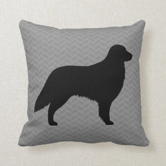 Flat Coated Retriever Silhouette Throw Pillow