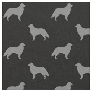 Flat Coated Retriever Silhouettes Pattern Fabric