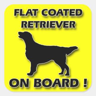 Flat Coated Retriever Square Sticker